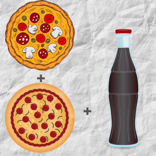 2x pizza combo + drink