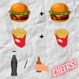 2x burger + drink
