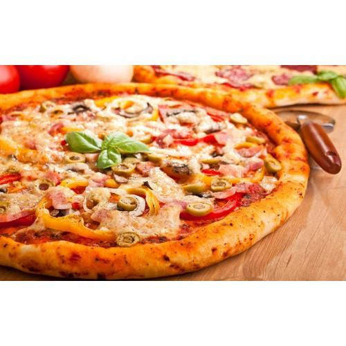 [8] Extra Cheese & Ham pizza